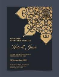 Muslim weddings are known as nikah, muslim wedding ceremonies are very old and the wedding rituals may vary from place to place as these mostly depends upon the family traditions they used to follow. Luxury Mandala Style Wedding Invitation 1849306 Vector Art At Vecteezy