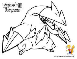Pokemon Black and White Color Pages | Pokemon Black And White ...