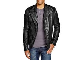 Scotch & soda Leather Biker Jacket in Black for Men | Lyst & Gallery Adamdwight.com