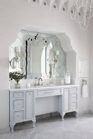 Arched Bathroom Alcove With French Washstand And Venetian Mirror