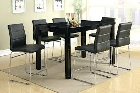 black dining table and chairs counter height dining table set counter height dining black dining room