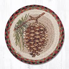 pinecone 80 081p round trivet 10x10