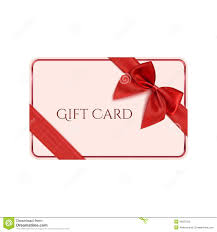 christmas gift card satin bow vector template royalty gift card template red ribbon and a bow royalty stock photo