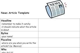 Newspaper Articles Template 4 Column Inside Page News Story Template Tv Script Sample