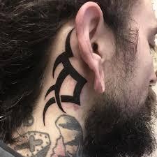 Tribal Tattoo Behind The Ear Blurmark