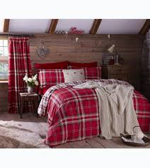 catherine lansfield kelso red double duvet cover set zoom