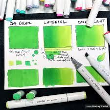 Ohuhu Color Chart Ohuhu 100 Colors Dual Tips Alcohol Art Markers Fine Chisel