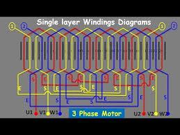 3 phase induction motor winding diagram