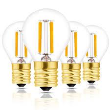 Globe Light Bulb Sizes Hizashi Super Mini Globe S11 Led Light Bulb Dimmable 2w E17 Intermediate Base Led Filament Replacement Bulb 25 Watt Equivalent Warm White Light
