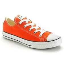converse shoes orange. size 12 converse chuck taylor all star shoes - girls orange