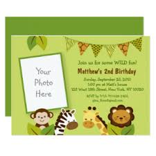 Jungle Theme Birthday Invitations Cute Safari Animal Birthday Invitation