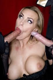 Blonde British MILF Tanya Tate taking on two huge Cocks.