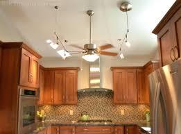 full image for impressive ceiling fan kitchen lights lighting track kit combo