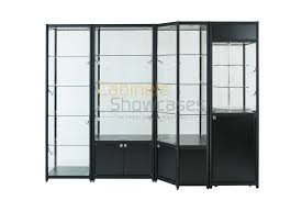 Metal Glass Display Cabinet Aluminium Freestanding Display Cabinets