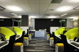 nice small office interior design. Interior: Nice Office Interior Design With Black Small Swivel Chairs For Employees Seating That Equipped