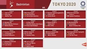 More news for malaysia badminton olympic » Badminton Tokyo 2020 Draw