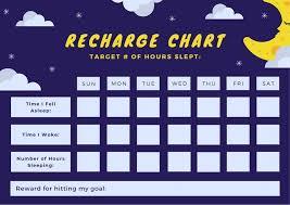 Reward Chart Target Violet Starry And Cloudy Moon Sleep Reward Chart Templates