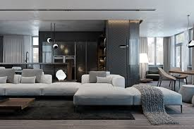 A Modern Flat with Striking Texture and Dark Styling | Living Room ...