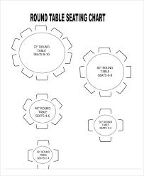 Round Table Seating Chart For 8 16 Seating Chart Templates Free Sample Example Format