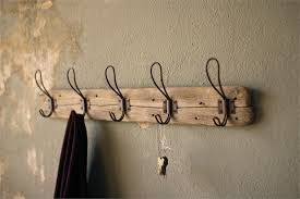 Antique Coat Rack Hooks Rustic Wood Coat Rack with Vintage Wire Hooks 2