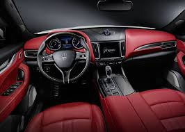 2018 maserati interior. simple maserati maserati levante 2017 2018 red interior color intended maserati a