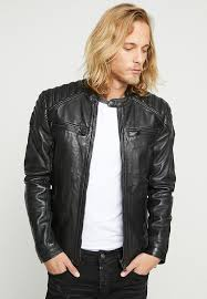 new hero racer leather jacket black