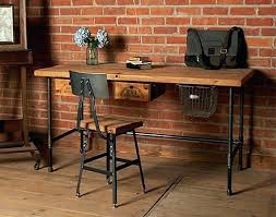 wood and metal desk metal wood desks reclaimed wood home office desks recycled things metal wood