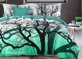 tree branch duvet covers brocade tree branches cer printed 4 piece cotton green bedding sets tree tree branch duvet covers