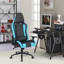 office chairs photos. IKayaa US UK FR Stock Gaming Office Chair Computer Height Armrest Adjustable Tilt Swivel Function For Manager Chairs-in Chairs From Furniture Photos