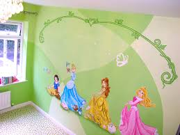 mural disney princesses snow white cinderella belle and aurora on castle wall art mural with disney princesses in castle bedroom