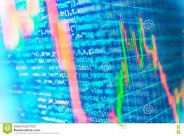 Code Stock Chart Finance Stock Exchange Background Stock Image Image Of