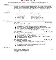resume print event planner cv template resume events manager sample marketing