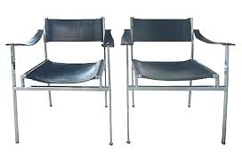 leather and chrome chair. White Leather Chair With Chrome Legs And Furniture Mid Century Modern Chairs .