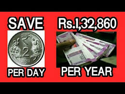 2 Rupees Saving Chart Save Rs 132860 Per Year By Just Saving Rs 2 Per Day Youtube