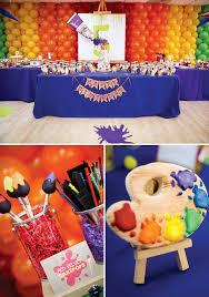 564 best rainbow art party images on rainbow art birthdays and art party