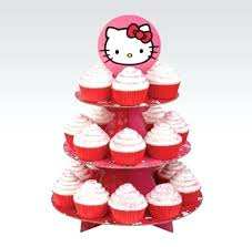 cup cake stand cupcake hello kitty kit 1 tree wood stands for weddings diy party city cup cake stand