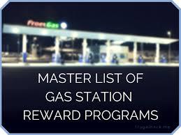master list of gas station rewards programs