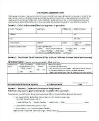 Nursing Note Example Nursing Oral Health Assessment Form Nursing ...