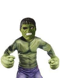 Hulk™-Set Handschuhe und Maske für Kinder grün , günstige Halloween  Accessoires bei HorrorKlinik