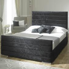 Athena Velvet Fabric Upholstered Bed Frame  Athena Velvet Fabric  Upholstered Bed Frame