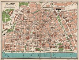 Details About Mainz Vintage Town City Map Plan Germany 1933 Old Vintage Chart