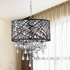 black chandelier lighting. Indoor 4-light Chrome Antique Black Chandelier - BCS-039-4AB Lighting N