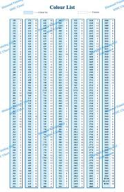 Dmc Color Chart For Diamond Painting Dmc Color Chart Card Dmc Color For Diamond Painting Zsj
