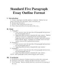 Simple 5 Paragraph Essay Examples Best Photos Of Standard Outline Format 5 Paragraph Essay