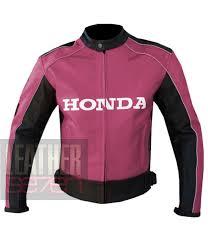 honda pink pure leather jacket