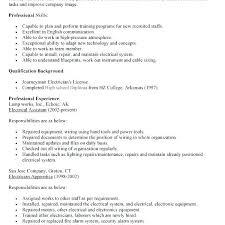 Electricians Resume Journeyman Electrician Resume 4 Apprentice ...