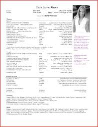 New Actor Resume Template Word Personal Leave