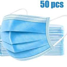 50Pcs Disposable Protective Mask 3 Layer Nonwove Ply ... - Vova