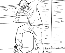 tony hawk coloring pages free printable beautiful skateboard ramp page 1152