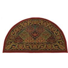 rug popular fire resistant s for fireplace half round burdy hearth